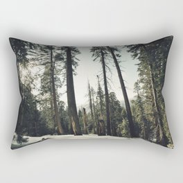 Winter Sequoia Forest Rectangular Pillow