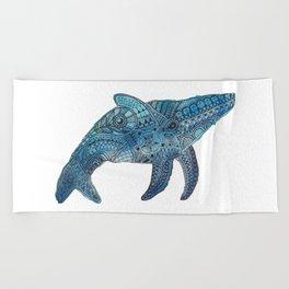 Blue Whale Beach Towel