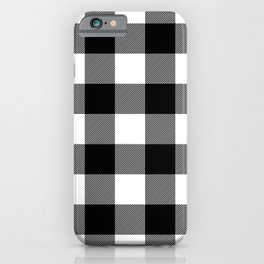 Black and White Plaid iPhone Case