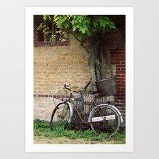 Cider House Bicycle Art Print