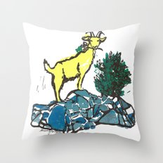 Goatie McGoatersons (colored version) Throw Pillow