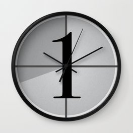 And Action! Wall Clock
