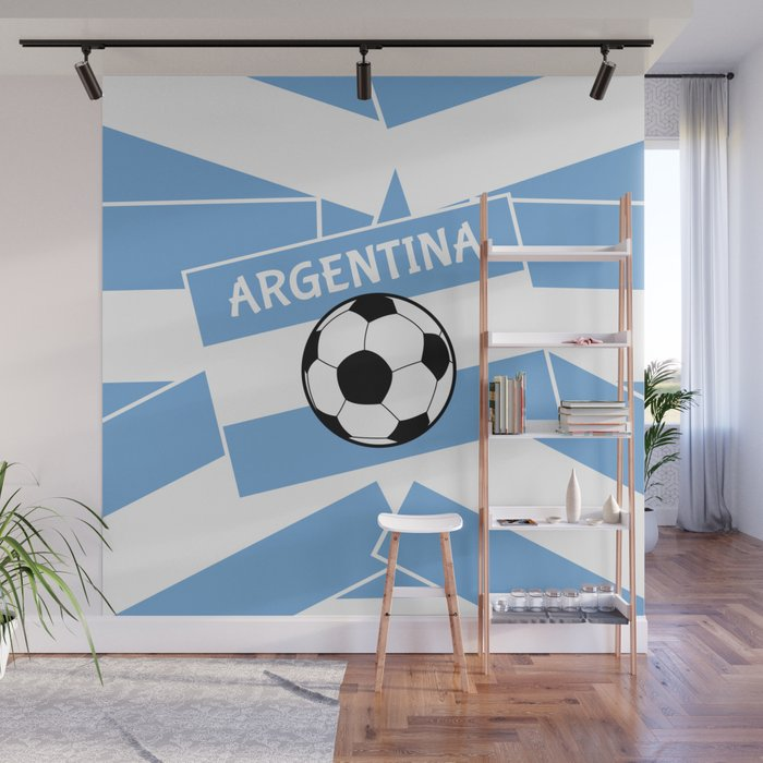 Argentina Football Wall Mural by mailboxdisco Society6