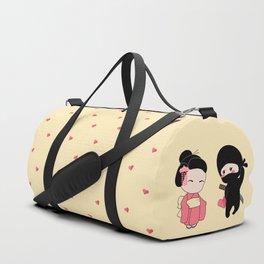 Tiny Ninja and Geisha Duffle Bag