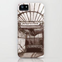 Métro Porte Dauphine - Hector Guimard iPhone Case