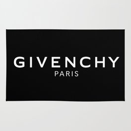 givenchy paris white Rug