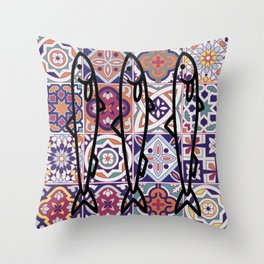 Azulejos Portugal sardine Throw Pillow
