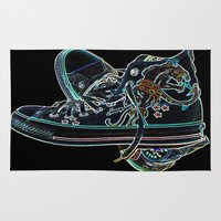 sneakers Area & Throw Rugs featuring My Sneakers by Dawn East Sider