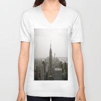 concrete V-neck T-shirts featuring Concrete Jungle by floridagurl