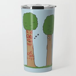 Tree Prank Gone Wrong Travel Mug