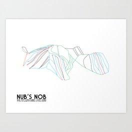 Nub's Nob, MI - Minimalist Trail Art Art Print