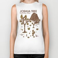 the national Biker Tanks featuring Joshua Tree National Park by Hinterlund