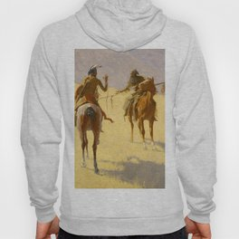 "Frederic Remington Western Art ""The Parley"" Hoody"