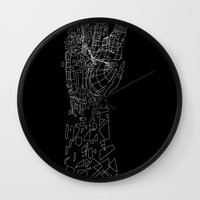 metal Wall Clocks featuring Metal by Tombst0ne