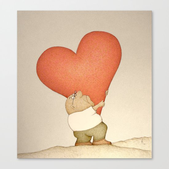 Heavy Heart (Retro version) Canvas Print