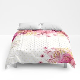 Modern Glam Chic Flowers #2 Comforters