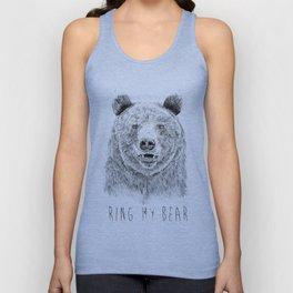 Ring my bear (bw) Unisex Tank Top