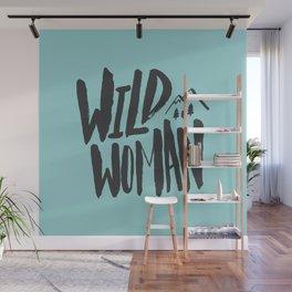 Wild Woman x Blue Wall Mural