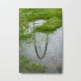 The reflection of Margaret Hunt Hill Bridge Metal Print