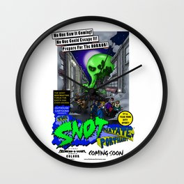 The Snot That Ate Port Harry poster Wall Clock