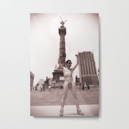 Nudist Male in Mexico City Metal Print