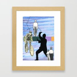 Drawing A Sword At The Sight of A Mosquito Framed Art Print