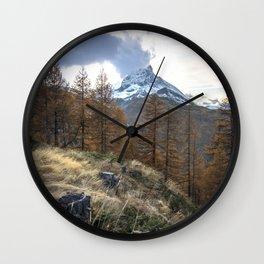 Autumn by the Matterhorn Wall Clock