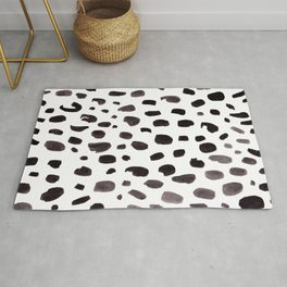 Dalmation Spots Painted Watercolor Pattern Rug