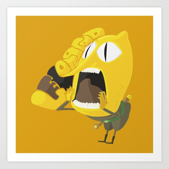 Adventure Time - Lemongrabs ( in - style ) Art Print