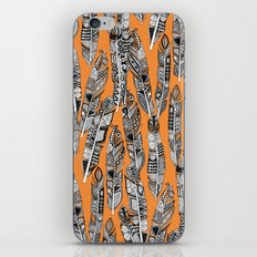 geo feathers orange iPhone & iPod Skin