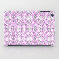 Lacey Pattern, White/Pink iPad Case