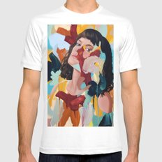 Briony White Mens Fitted Tee MEDIUM