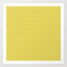 Small scallops in buttercup yellow Art Print
