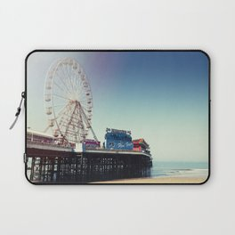 Ferris wheel on Blackpool Pier, hot summer morning. Laptop Sleeve