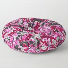Pink guns camo Floor Pillow