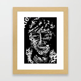 Text Me Framed Art Print