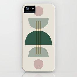 Emerald Abstract Half Moon 1 iPhone Case