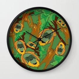 Save the orangutans Wall Clock