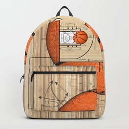 Basketball Court Team Sports Design Backpack