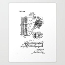 Grand Piano old patent vintage illustration Art Print