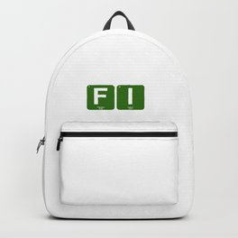 Financial Independence Periodic Table Backpack