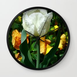 Tulip after the Rain Wall Clock