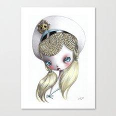 Girl in Uniform Canvas Print
