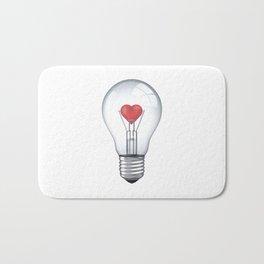 Lamp heart Bath Mat