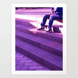 Portland in Purple Art Print