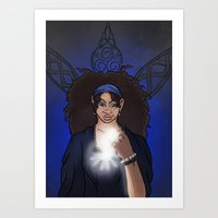 The Clairvoyant Raven Art Print