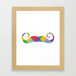 mustache ambassadors Framed Art Print