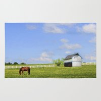 kentucky Area & Throw Rugs featuring Kentucky by ThePhotoGuyDarren