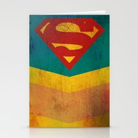 supergirl Stationery Cards featuring Supergirl by Fries Frame