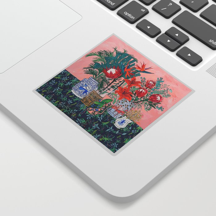 The Domesticated Jungle - Floral Still Life Sticker